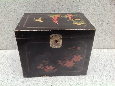 Old Lacquered Box Japanese? Signed.