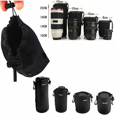 Matin Neoprene waterproof Soft Camera Lens Pouch bag Case Size S-XL Hot