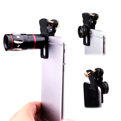 4 IN 1 Universal Clamp Clip-On Camera Lens Clip Cellphone for iPhone6 7 Samsung