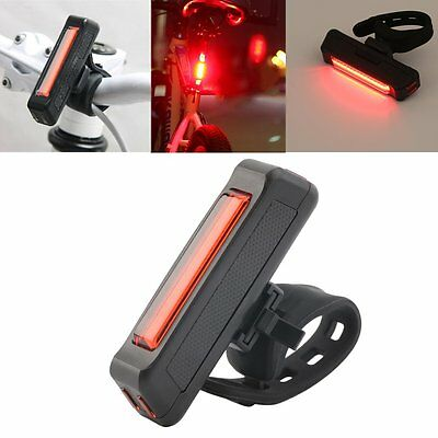USB Rechargeable Bike Bicycle Light Rear Back Safety Tail Light Red New  HP#