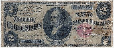 Series 1891 two dollar $2 silver certificate rare note William Windom