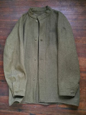 unknown WWI olive green wool army tunic w/wreath & stars buttons LG size 40-44