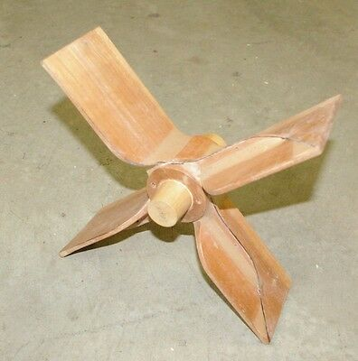 """Vintage 12"""" Cherry Wood Fan Impeller Foundry Casting Mold Great Looking!"""