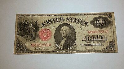 1917 Legal Tender Note One Dollar $1 Large Size FREE SHIPPING C581A MM