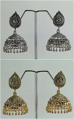 New Light Weight Bollywood Indian Traditional Fashion Jewelry Earring Jhumka