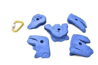 ETCH Slicks Set D Climbing Hold, Blue