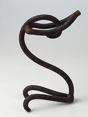 Antique VTG Hand Forged Iron Sculpture Kneeling Prayer Pray Garden Art