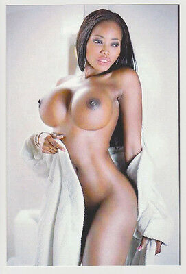 Postcard Nude Sexy Model Stunning Black Girl Topless Breast Photo Post Card 7085