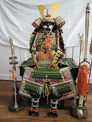 Full Set Japanese Traditional SAMURAI Boys Day Doll, Rare w/ sword and bow !