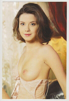 Postcard Nude Sexy Girl Pinup Topless Breast Lingerie Glamour Post Card 6578