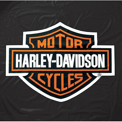 Harley Davidson Heavy Weight HD Black Vinyl Pool Table Cover - 8 Feet