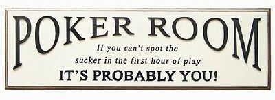 Ram R216 Poker Room Pub Sign 3D Art with FREE shipping