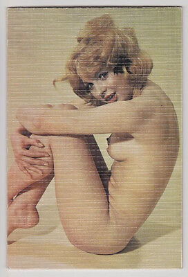 Nude Card Pinup Girl Sexy Topless Breast Butt Vintage Original 60s Postcard 6057