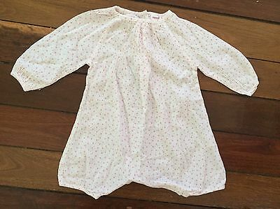 seed Heritage Baby Girl Long Sleeve Light Cotton Romper 3-6 Months