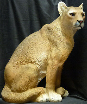 GHOST CAT  Mountain Lion Statue Figurine DWK H21""