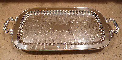 """Vintage Eales of Sheffield Silverplate 24"""" Butlers Tray #1779 England"""