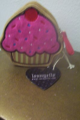 Loungefly Happy Face Pink Icing Cupcake Coin Bag Change Purse
