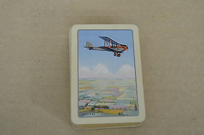 FULL DECK OF 52 1930s PLAYING CARDS DEPICTING A DE HAVILAND MOTH AIRCRAFT