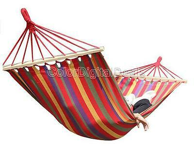 New Huge Single Cotton Fabric Hammock Air Chair Hanging Swinging Camping Outdoor