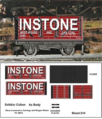 RE-LIFE DECALS FOR HORNBY DUBLO INSTONE COAL 7 -plank