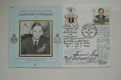 Raf8 Cover Lord Tedder - Signed By 2
