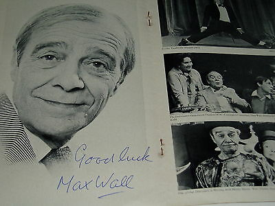 Max Wall.................................. .autograph On Programme...1975