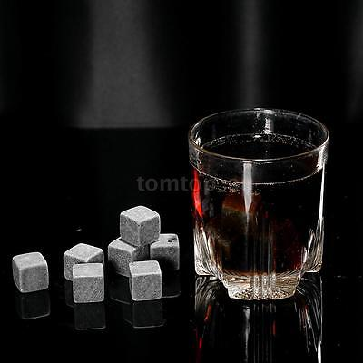 12pcs 18mm Whisky Ice Stones Drinks Cooler Cubes Beer Rocks with Pouch Q0L3