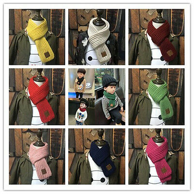 hot Boys Girls Knitting wool children 's fashion pure winter warm Scarves gifts