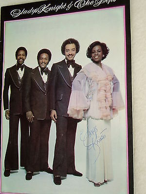 Gladys Knight................autograph..on Programme..