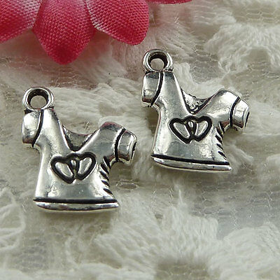 Free Ship 70 pieces Antique silver coat charms 16x13mm #1371