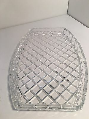 Vintage Large Crystal Plate Sandwich Biscuits High Tea Glass Diamond Cut 1.5kg