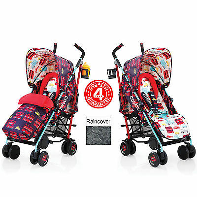 New Cosatto Supa Pushchair Stroller Hustle Bustle Buggy & Raincover From Birth