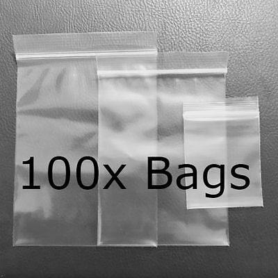 8 Sizes, High Quality Clear ZIP LOCK Reclosable Resealable Plastic Bags Thick