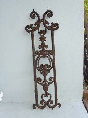 Lovely Antique French wrought iron window grille ( France) Rustic Luxe artistic