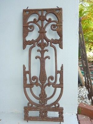 Antique French wrought iron window grille(France)Artistic/Rustic Luxe Poss. ship