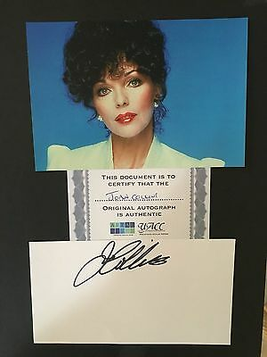 Joan Collins hand signed autograph of the actress