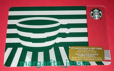 "Starbucks Canada 42 Series Holiday 2016 Gift Card ""green Illusion"" No Value New"