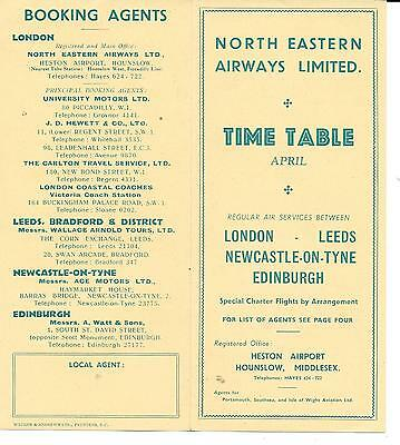 North Eastern Airways Time Table