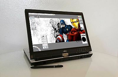 Fujitsu Wacom Illustration Tablet Laptop Core i5 ~ Cintiq Bamboo Grade B+