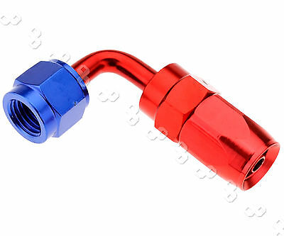 90 Degree AN4 Flow Fuel Oil Hose Fitting Straight Fast Swivel Seal