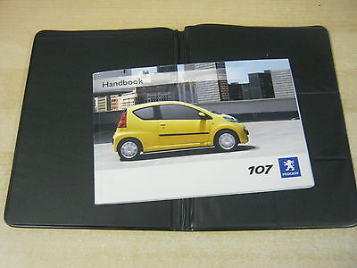 PEUGEOT 107 OWNERS MANUAL  HANDBOOK 2005-2009 covers audio