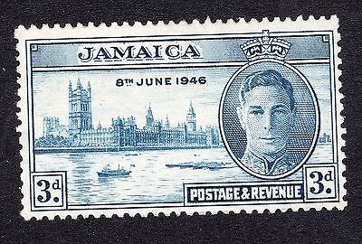 1946 Jamaica 3d Blue Victory SG142a MOUNTED MINT R17564