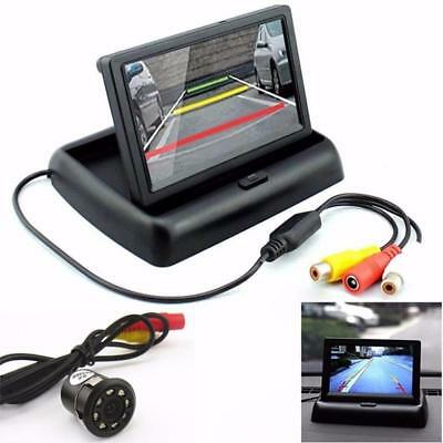 "Car Reverse Parking Camera With Radar Sensor 4.3"" LCD View Monitor"