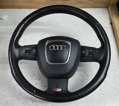 Audi A4 A5 Q5 Q7 S-Line Multifunction Leather Steering Wheel Paddles Airbag