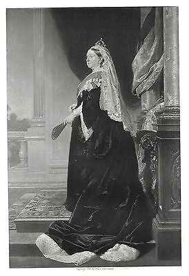Queen Victoria (Golden Jubilee) Engraving after Heinrich Anton von Angeli 1887