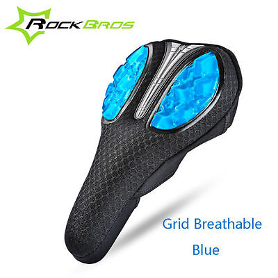 RockBros Cycling Soft Silica Gel Pad Seat Saddle Cover Mesh Style Cushion Cover