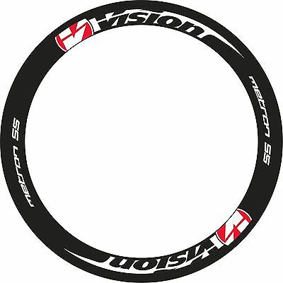 Vision Metron 55 Rim Decals Set For Two Wheels Red