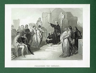 Preaching the Crusades (11th-15th Century) Palestine - Eng. after L. Hicks c1835