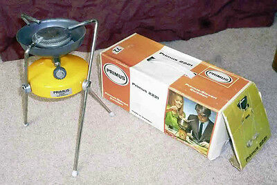 Vintage Boxed Swedish PRIMUS 2221 Camping Stove vgc