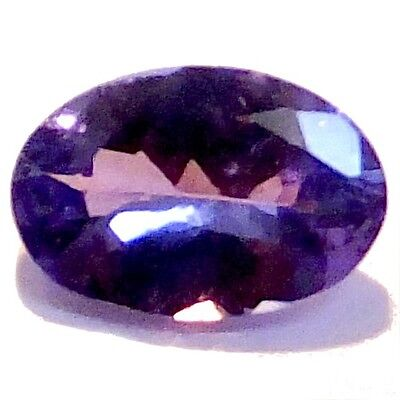 NATURAL AWESOME BLUE TANZANITE LOOSE GEMSTONE (6.6 x 4.5 mm) OVAL CUT